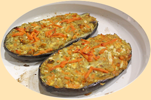 Baked Eggplants just out of the oven