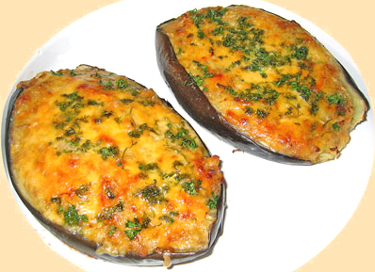 Baked Brinjal with Regular Cheddar Cheese
