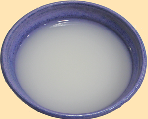 Rice Water, saved from Straining the pot of cooked rice