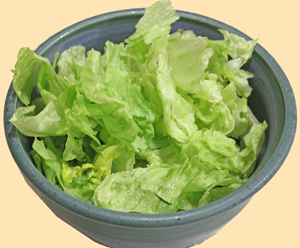 Lettuce, washed and ready to be cooked